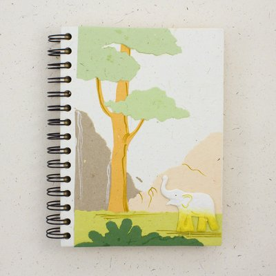 Mr Ellie Pooh Large Elephant Natural White Journal