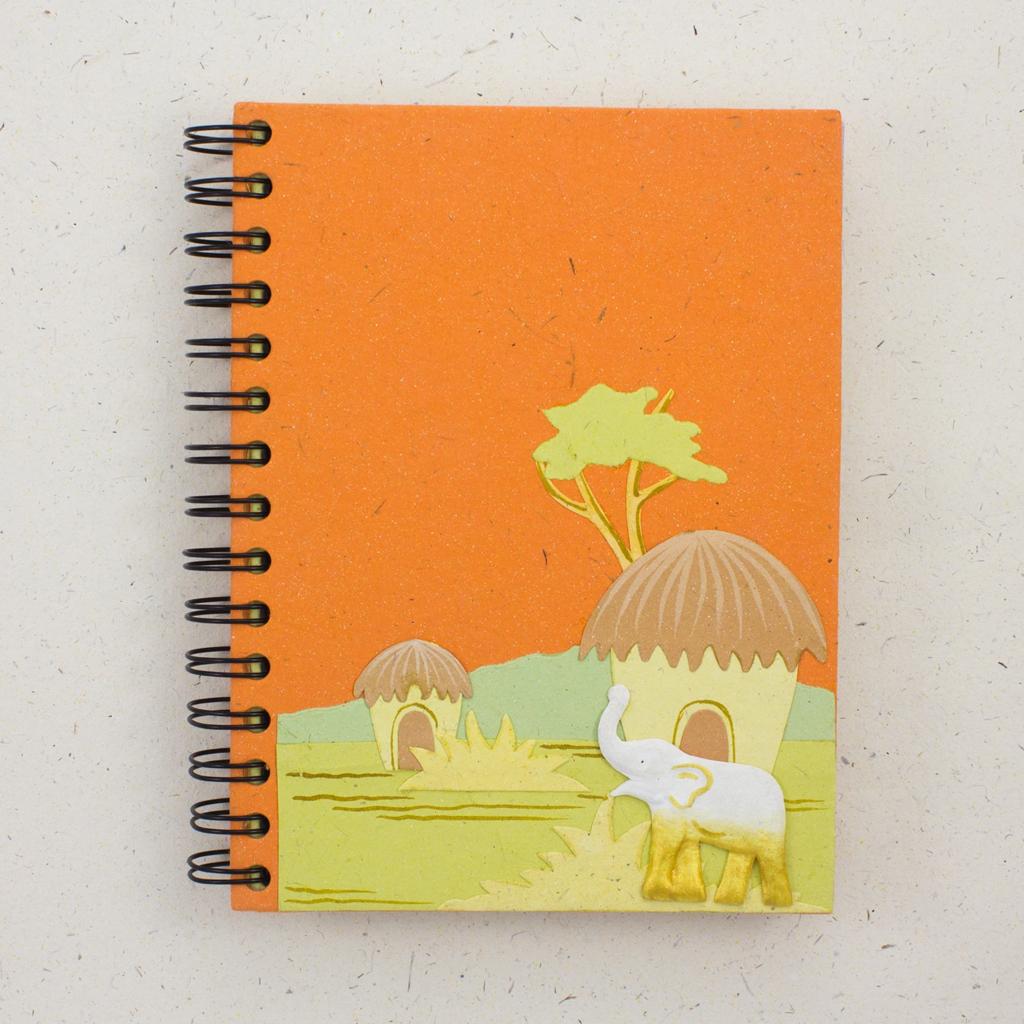 Mr Ellie Pooh Large Elephant Orange Journal