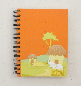 Mr Ellie Pooh Large Elephant Orange Journal