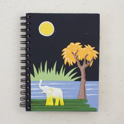 Mr Ellie Pooh Large Elephant Trunk Black Journal