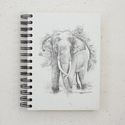 Mr Ellie Pooh Large Elephant Tusker Sketch Journal