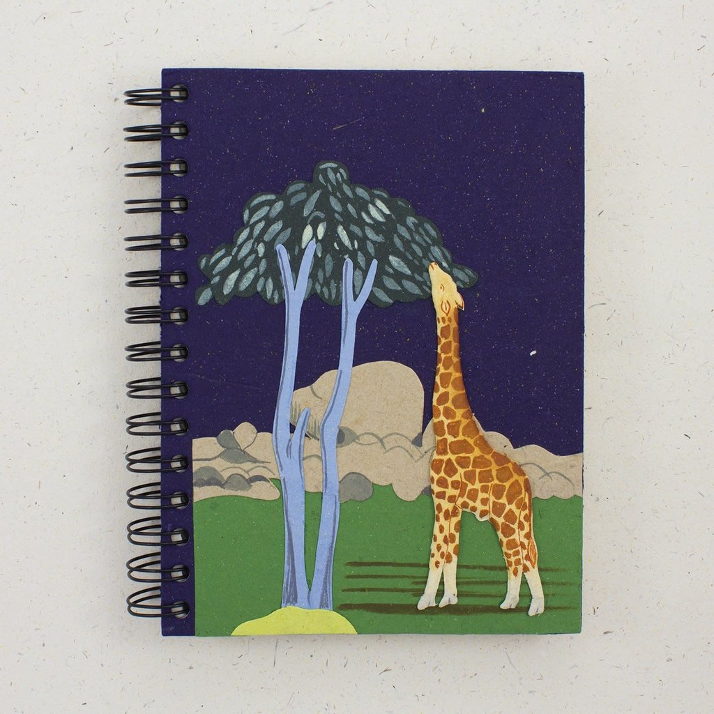 Mr Ellie Pooh Large Giraffe Dark Blue Journal