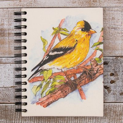 Mr Ellie Pooh Large Goldfinch Watercolor Journal
