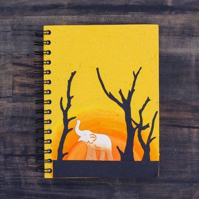 Mr Ellie Pooh Large Good Luck Elephant Yellow Journal
