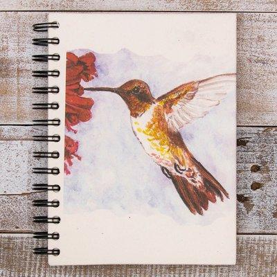Mr Ellie Pooh Large Hummingbird Watercolor Journal