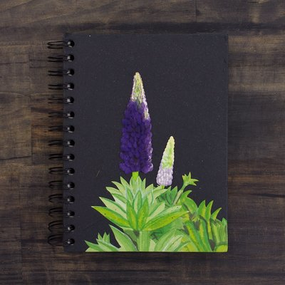 Mr Ellie Pooh Large Lupine Flower Journal