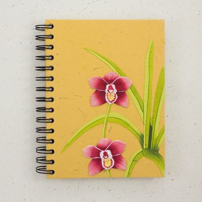 Mr Ellie Pooh Large Orchid Flower Journal