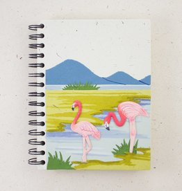 Mr Ellie Pooh Large Pink Flamingos Journal