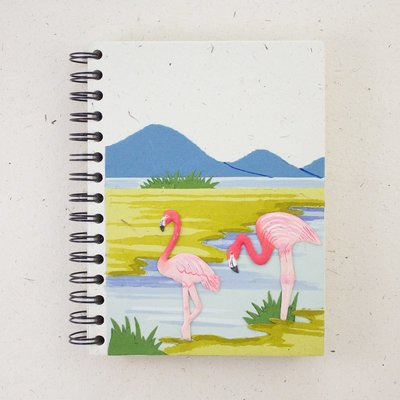Mr Ellie Pooh Large Pink Flamingos Journal