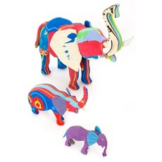 Swahili Imports Small Recycled Flip Flop Elephant Sculpture