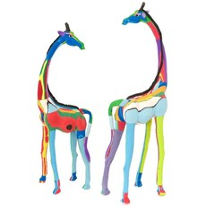 Swahili Imports Small Recycled Flip Flop Giraffe Sculpture
