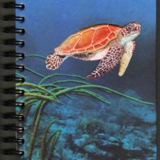 Mr Ellie Pooh Large Sea Turtle Watercolor Journal
