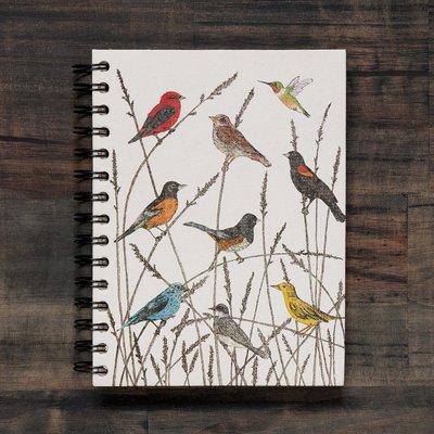 Mr Ellie Pooh Large Wild Birds Watercolor Journal