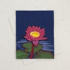 Mr Ellie Pooh Lotus Flower Greeting Card
