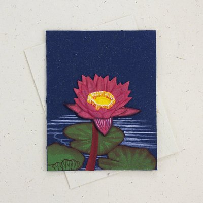 Mr Ellie Pooh Lotus Flower Greeting Card