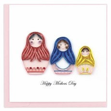 Quilling Card Mother's Day Nesting Dolls