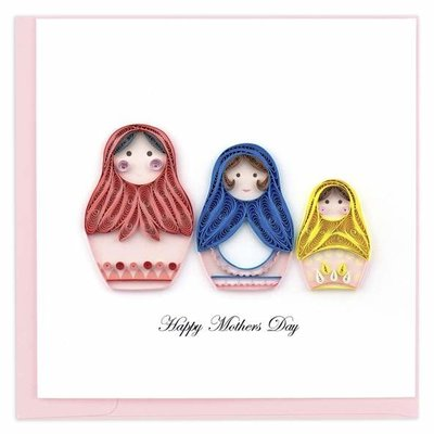 Quilling Card Mother's Day Nesting Dolls Quilled Card
