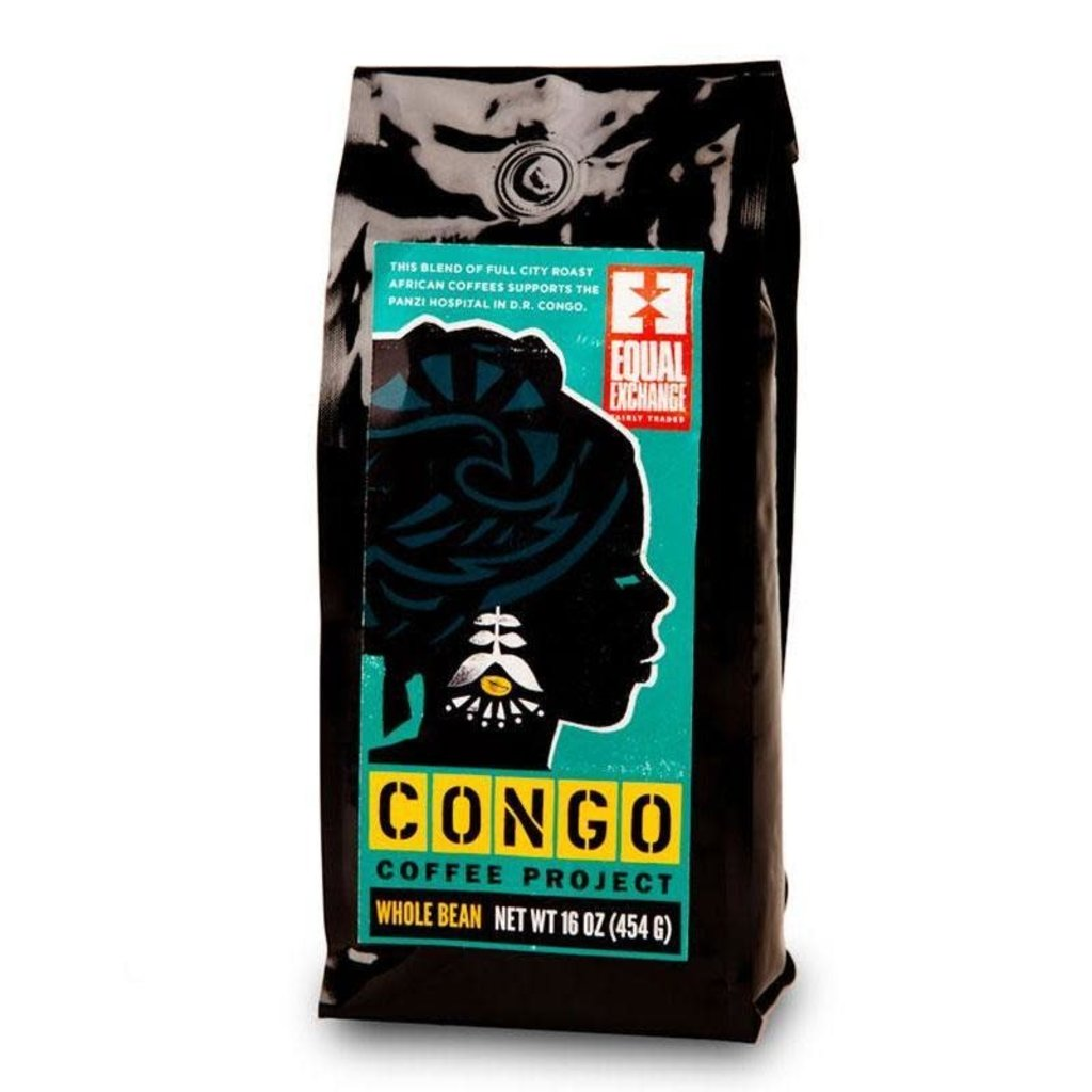 Equal Exchange Organic Congo Coffee Project 1lb Whole Bean