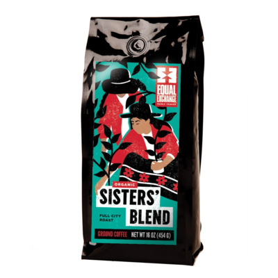 Equal Exchange Organic Sisters Blend Coffee 1lb Drip Grind