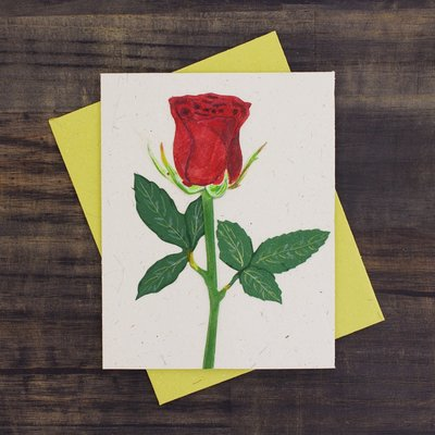 Mr Ellie Pooh Rose Flower Greeting Card