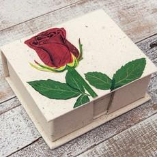 Mr Ellie Pooh Rose Flower Note Box