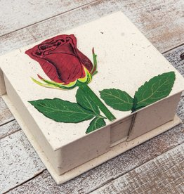 Mr Ellie Pooh Rose Flower Note Box