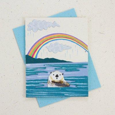 Mr Ellie Pooh Sea Otter Greeting Card