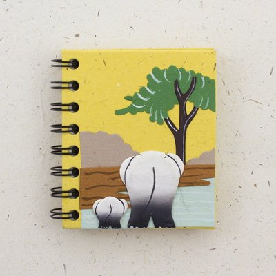 Mr Ellie Pooh Small Elephant Butts Yellow Journal