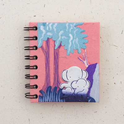 Mr Ellie Pooh Small Elephant Family Pink Journal