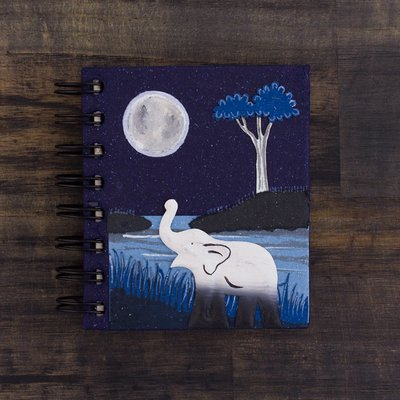 Mr Ellie Pooh Small Elephant Midnight Blue Journal