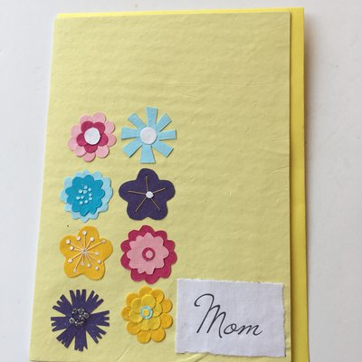 Good Paper Eight Flowers for Mother's Day Card