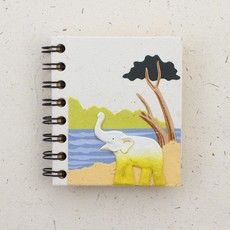 Mr Ellie Pooh Small Elephant Natural White Journal