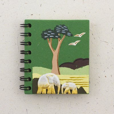 Mr Ellie Pooh Small Elephants Dark Green Journal