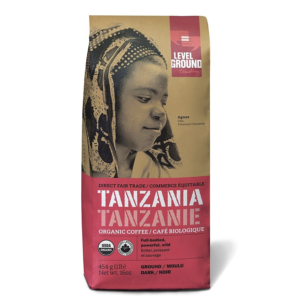 Level Ground Trading Tanzania Ground Coffee 454G