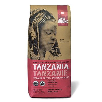Level Ground Trading Tanzania Ground Coffee 454G