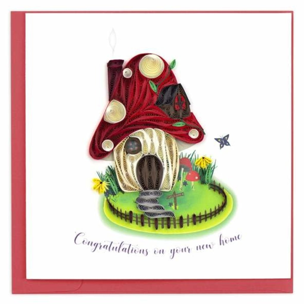 Quilling Card Toadstool Home Congrats Quilled Card