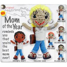 Kamibashi Mom of the Year White String Doll Keychain