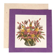 Ten Thousand Villages Abundant Bouquet Greeting Card