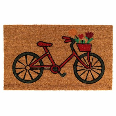 Ten Thousand Villages Bicycle Coir Doormat