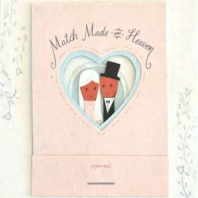 Good Paper Match Made in Heaven Wedding Card