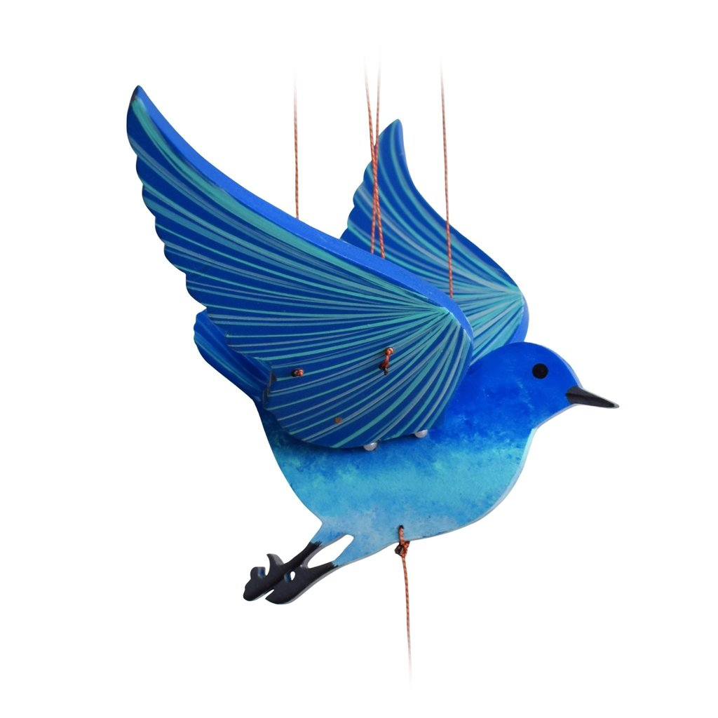 Tulia's Artisan Gallery Flying Mobile: Bluebird of Happiness