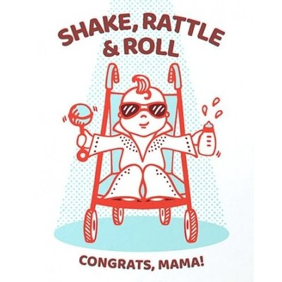 Good Paper Shake Rattle & Roll Baby Congrats Card