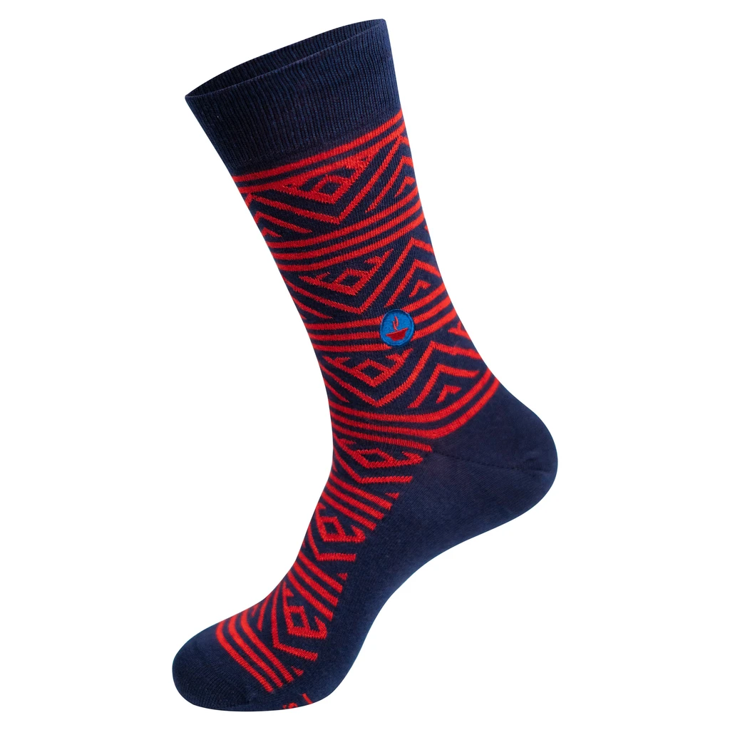 Conscious Step Socks that Fight Hunger: Red & Navy