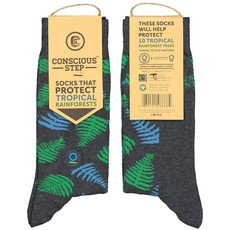 Conscious Step Socks that Protect Rain Forests: Leaves