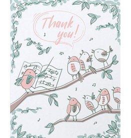 Good Paper Thank You Bird Chorus Card