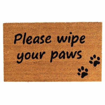Ten Thousand Villages Wipe Your Paws Coir Doormat