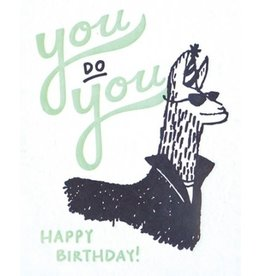 Good Paper You Do You Llama Birthday Card