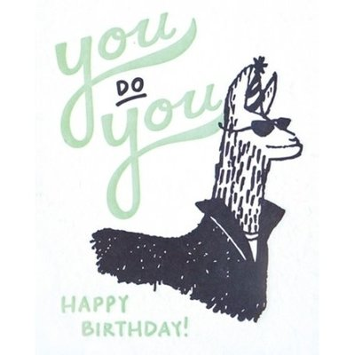 Good Paper You Do You Llama Birthday Card