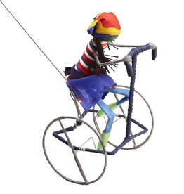 Ten Thousand Villages Galimoto Girl Cyclist