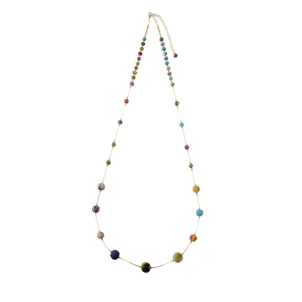 Ten Thousand Villages Elegant Recycled Sari Bead Necklace
